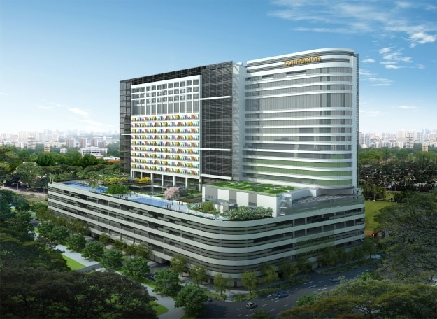 Connexion at Farrer Park, Singapore: The World's First Integrated Hospital and Hotel Complex.