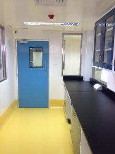 Fame pharma GRP hinged single action door