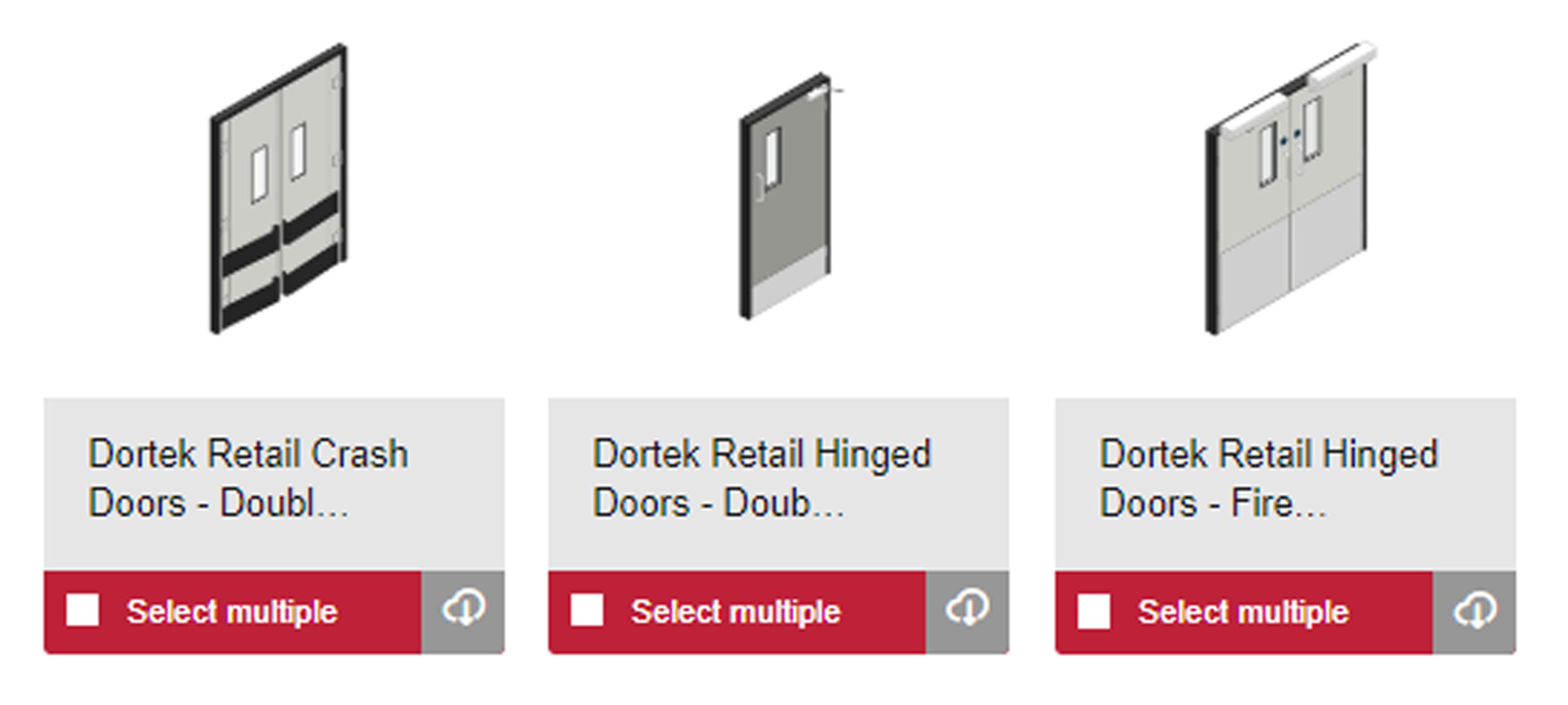 Dortek adds Retail Doors to its BIM objects
