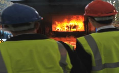 4 hour Fire Test Success for Double Action Fire Doors