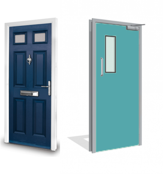 What's the difference between Composite and Dortek GRP vermiculite-cored Fire Doors?