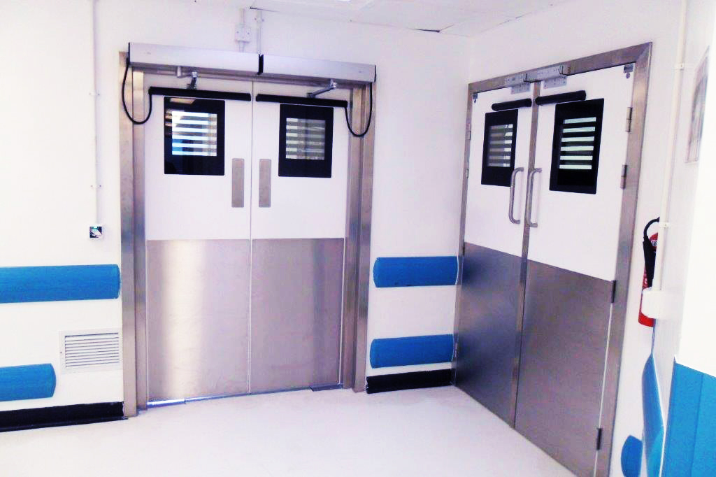Automated hygienic doors for infection control