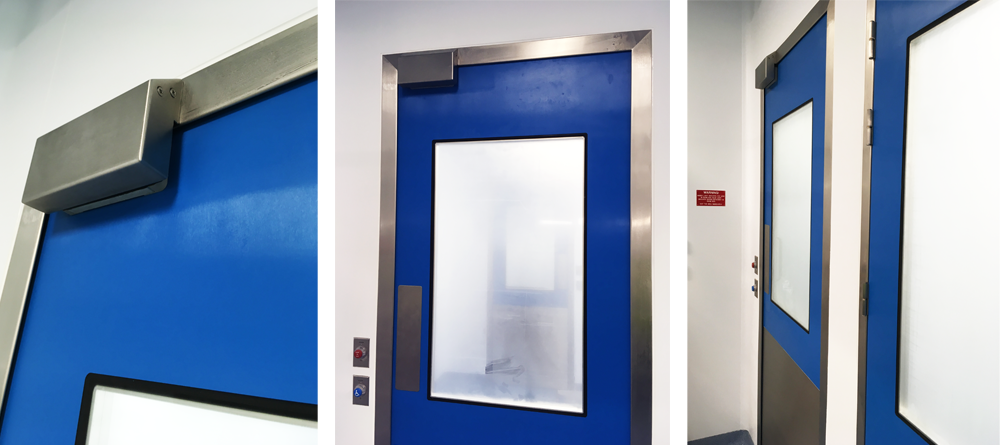 Flush cleanroom doors Dortek