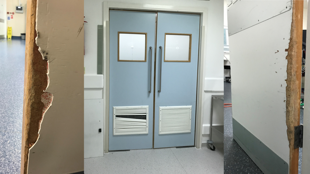GRP hygienic doors for infection control2