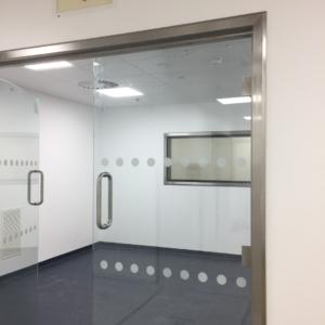 Hygienic Glass Hinged Doors