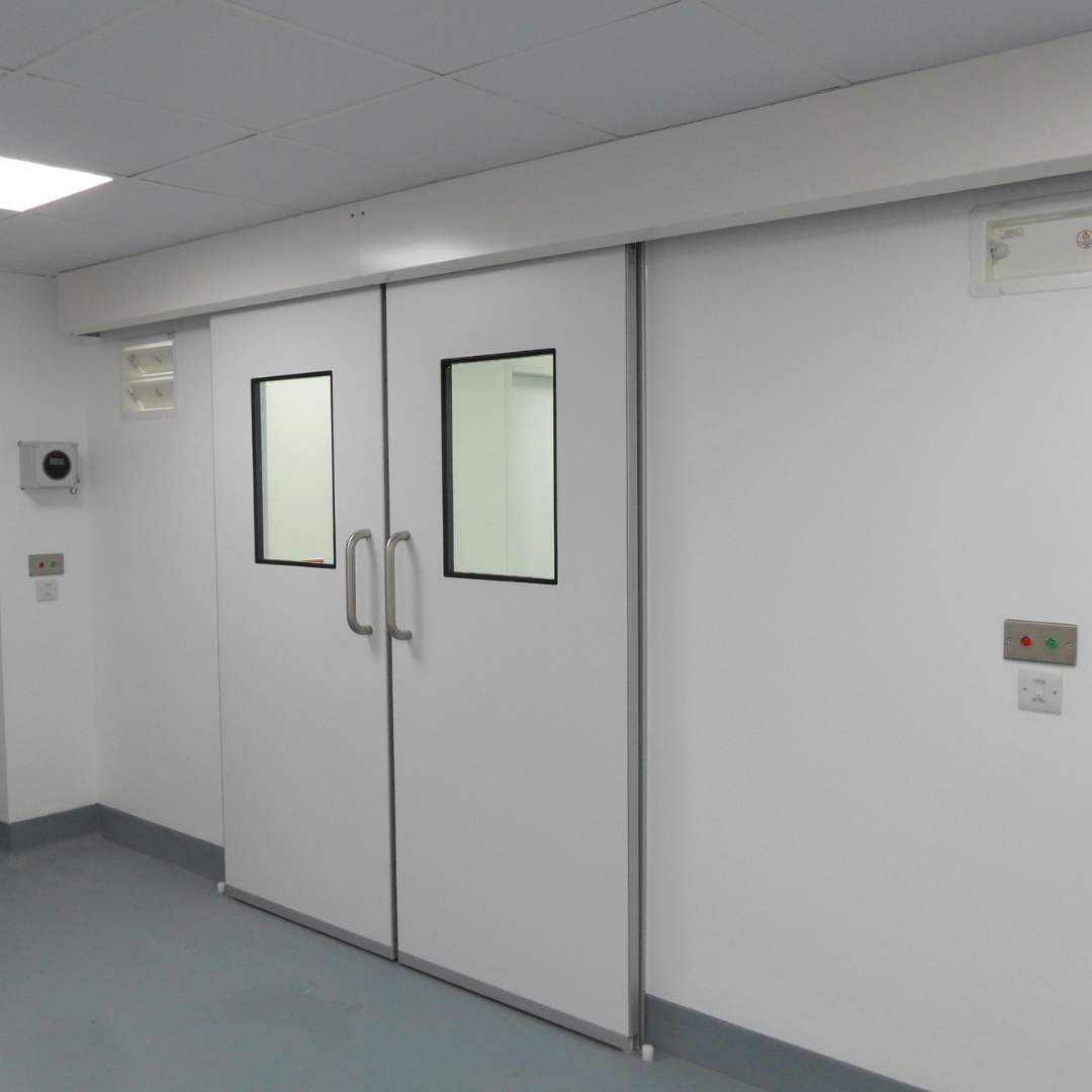 Hygienic GRP Fire Rated Sliding Doors