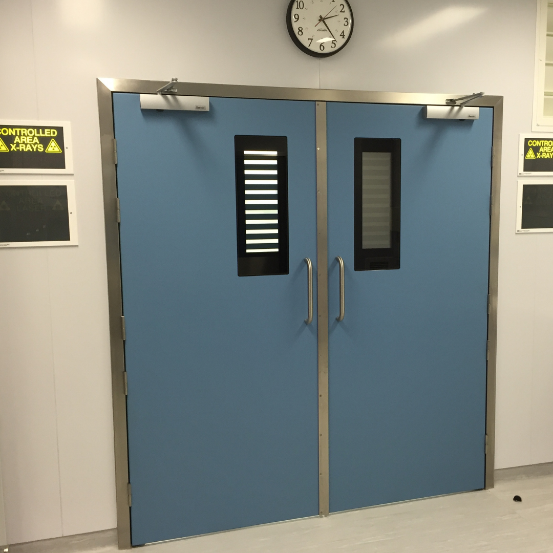 Hygienic FRP Lead Lined Hinged Doors