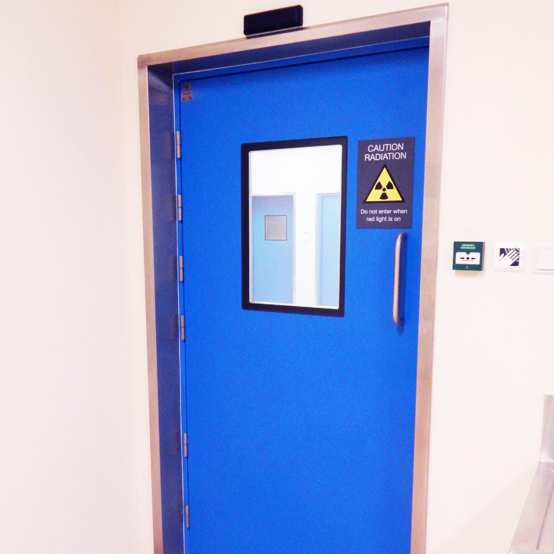 Hygienic GRP Lead Lined Hinged Doors