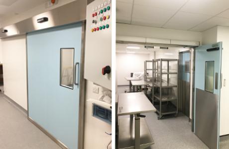 hermetic doors, hygienic sliding doors, cleanroom doors