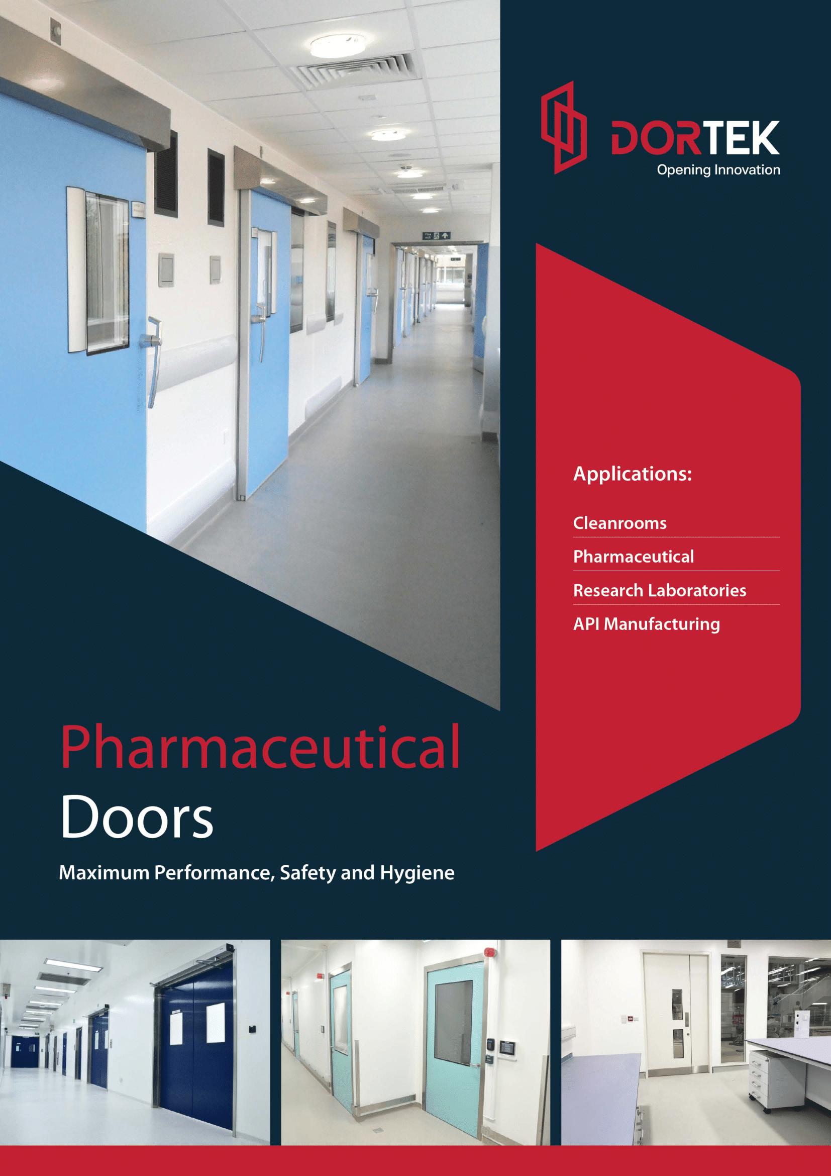 Dortek Pharmaceutical Door Brochure