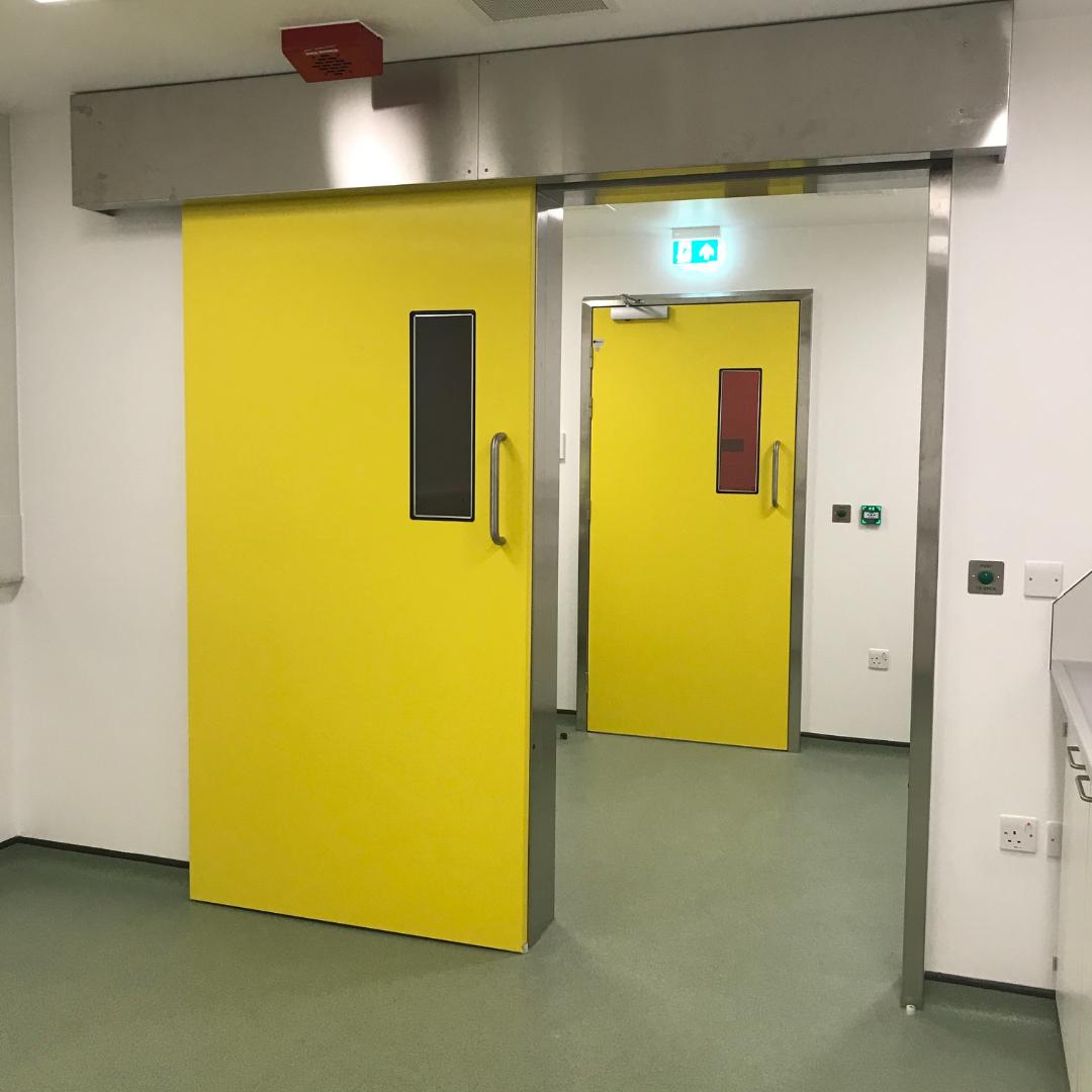 Hygienic Sliding FRP Fire Doors