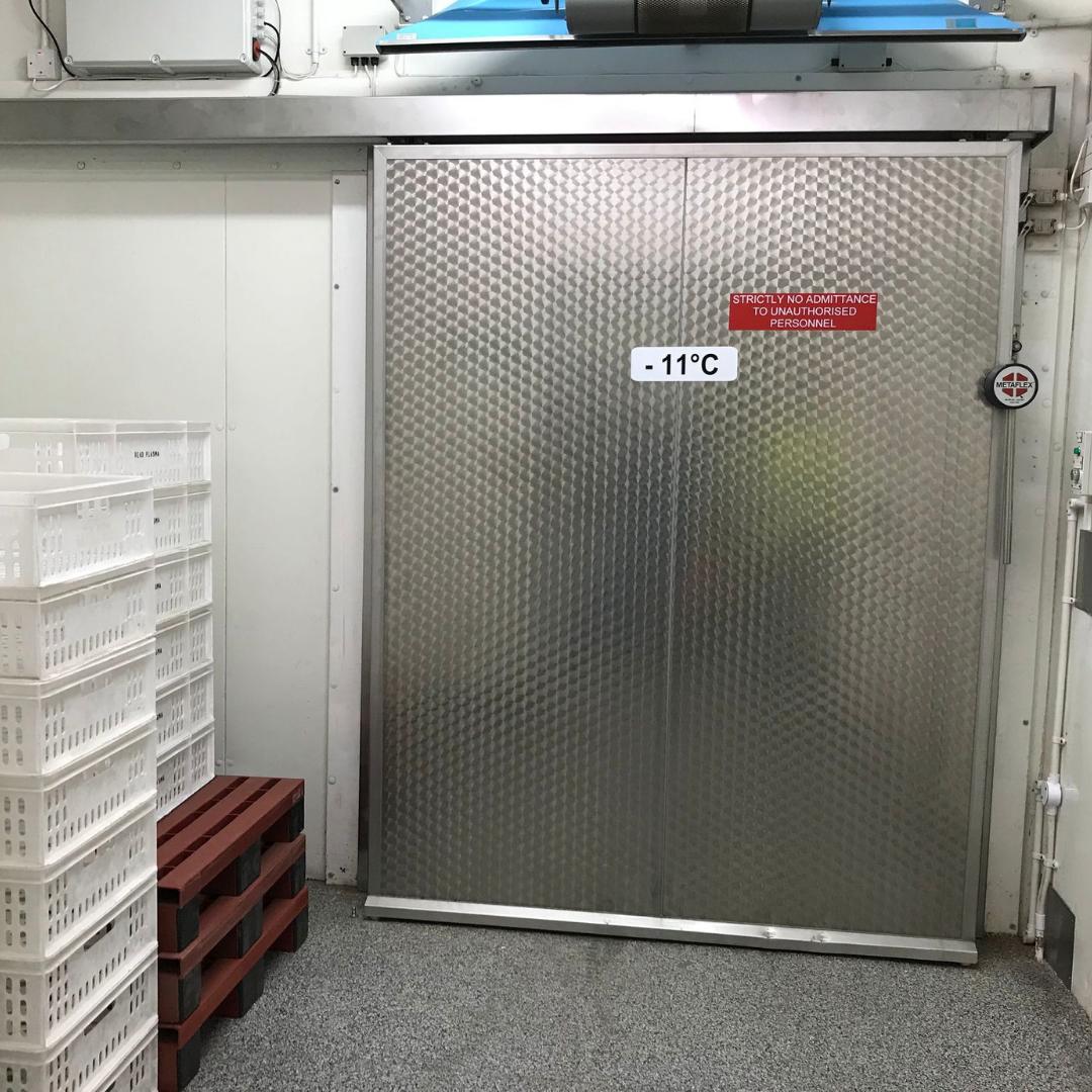 Sliding Chiller and Freezer Door